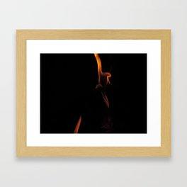 Black Magic Fire Framed Art Print