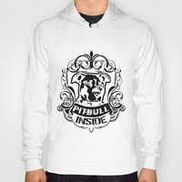 pitbull Hoodies featuring pitbull inside by LGT logout graphix design