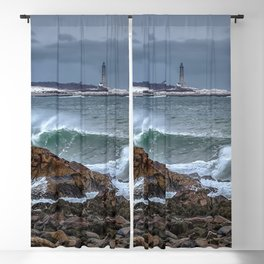 Waves on the back shore 1-30-18 Blackout Curtain