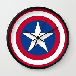 The Captain Shield Wall Clock