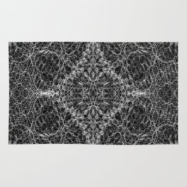 Diffract black and white Rug