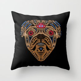 Straight Puggin' - Bling Throw Pillow