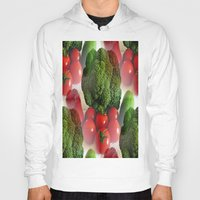 vegetables Hoodies featuring Healthy Vegetables by Art-Motiva