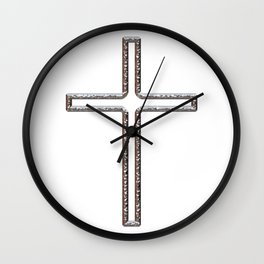 Chrome Crucifix Hollow Wall Clock