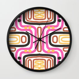 Mid Century Inspired Print Wall Clock