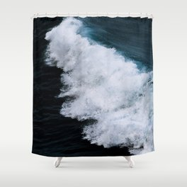Powerful breaking wave in the Atlantic Ocean - Landscape Photography Shower Curtain