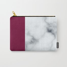 Berry Marble Carry-All Pouch