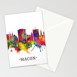 Macon Georgia Skyline Stationery Cards