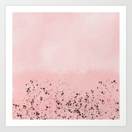 Abstract speckled background - pink Art Print
