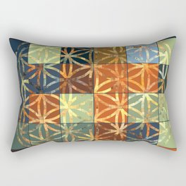 Flower Of Life Modern Squares Mosaic Rectangular Pillow