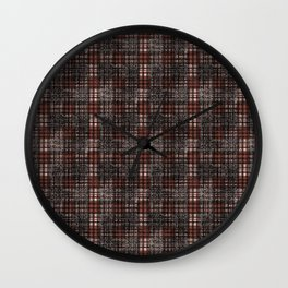 Classical black and dark scarlet cell. Wall Clock