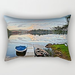 Another Day on the Lake Rectangular Pillow