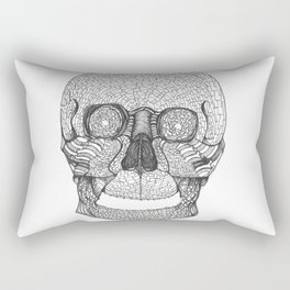 Mosaic Skull Rectangular Pillow