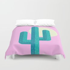 Pink Cactus Duvet Cover