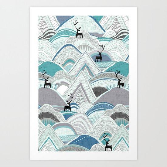 caribou mountains blue by sharonturner