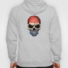 Dark Skull with Flag of The Netherlands Hoody