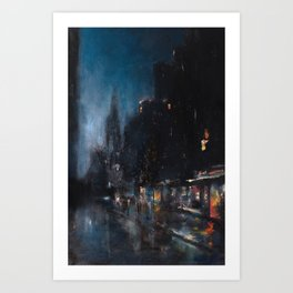 Blue Manhattan Art Print