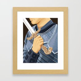 The Honorable Knight - WORDLESS Framed Art Print