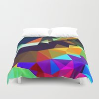 bands Duvet Covers featuring harlequin bands by Tulipe Studio