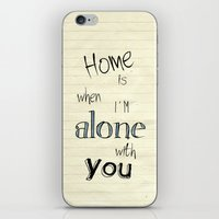 home sweet home iPhone & iPod Skins featuring Home by Brandy Coleman Ford