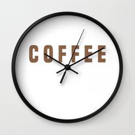 I Turn Coffee Into Policies Insurance Broker Insurance Agent T-Shirt Wall Clock