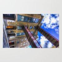 victorian Area & Throw Rugs featuring Victorian London by David Pyatt