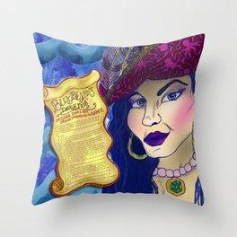Bluebeard's Daughter  Throw Pillow