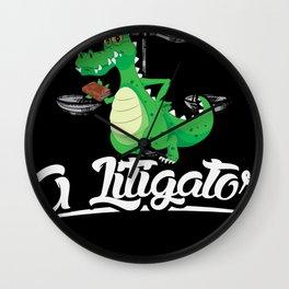 A Litigator justice right shirt design Wall Clock