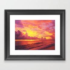 Setting Framed Art Print
