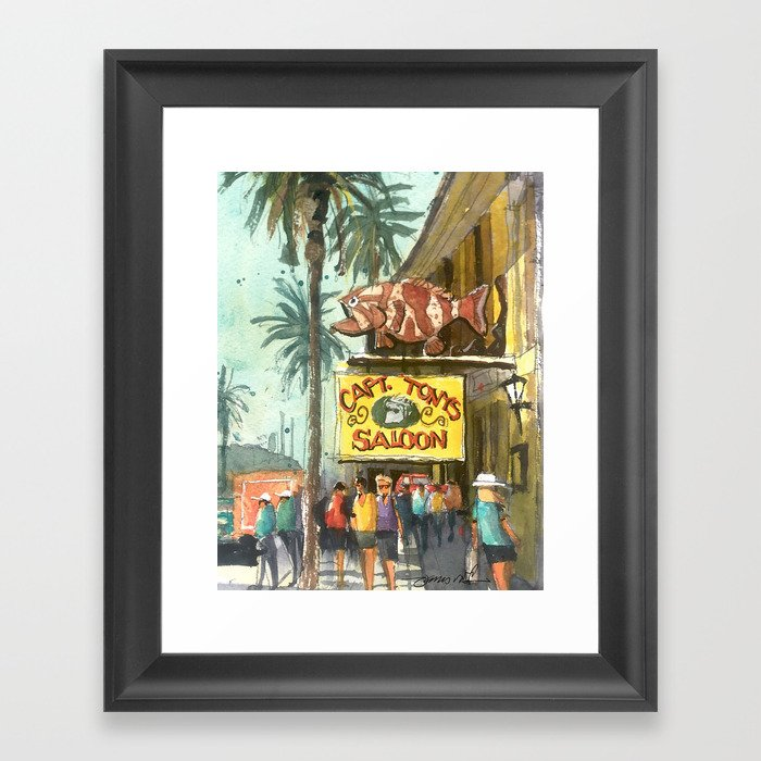 Captain Tony's, Key West Gerahmter Kunstdruck
