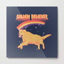 Golden Believer Metal Print