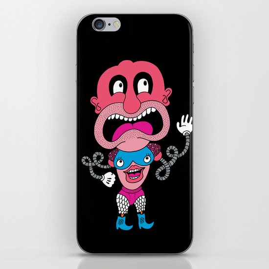 Red Face Weirdo iPhone & iPod Skin