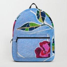 MOSAIC WATERCOLOR ROSE Backpack