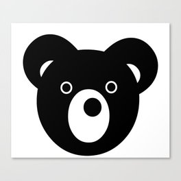 Bear Faced Canvas Print