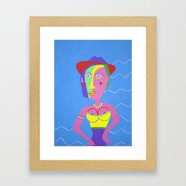 NINA ON HOLIDAY Framed Art Print