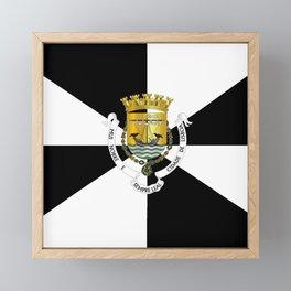 flag of lisbon Framed Mini Art Print