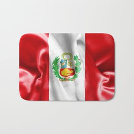 Peru Flag Bath Mat