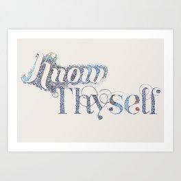 Know Thyself - Linen Edition Art Print