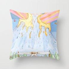 The Mountian. Throw Pillow