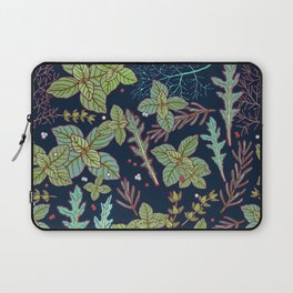 dark herbs pattern Laptop Sleeve