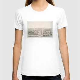 Vintage Pictorial Map of Rochester NY (1854) T-shirt