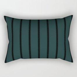 Minimal Triangles - Teal Rectangular Pillow