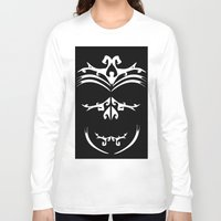 maori Long Sleeve T-shirts featuring Maori skull black & white  by Soso Creation