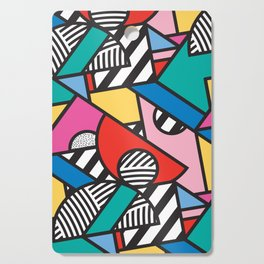 Colorful Memphis Modern Geometric Shapes - Tribal Kente African Aztec Cutting Board