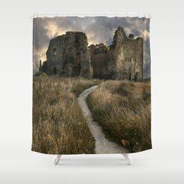 Forgotten castle in Estonia Shower Curtain