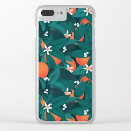 Summery Orange Blossoms Clear iPhone Case