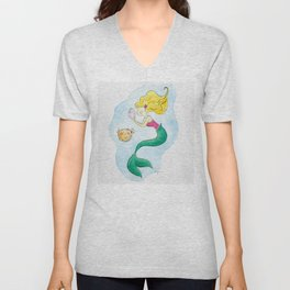 Mermaid under the sea Unisex V-Neck