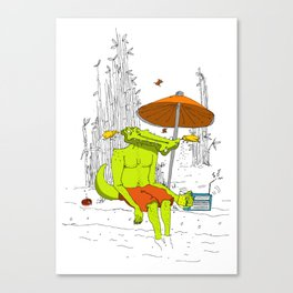 Crocodile. Canvas Print