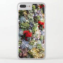 Dreamy Succulents Clear iPhone Case