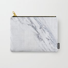 White Marble with Classic Black Veins Carry-All Pouch